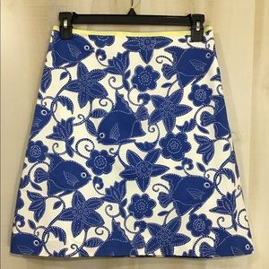 Lily Pulitzer Fish And Flower Mini Skirt Size 6